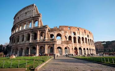 Front view of the Colosseum