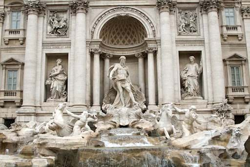 Trevi Fountain Front View