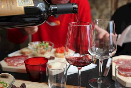 Pouring Wine tasting