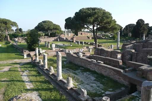 Ostia Antica Ruins on a sunny day