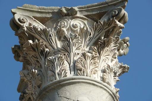 Ostia Antica column in details