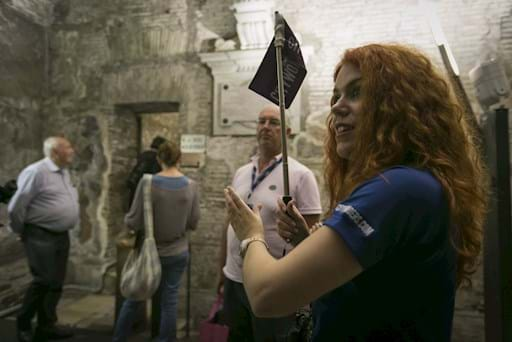 Crypts & Catacombs Tour guide and group