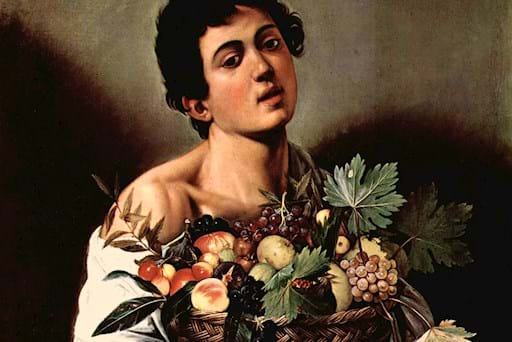Caravaggio boy painting