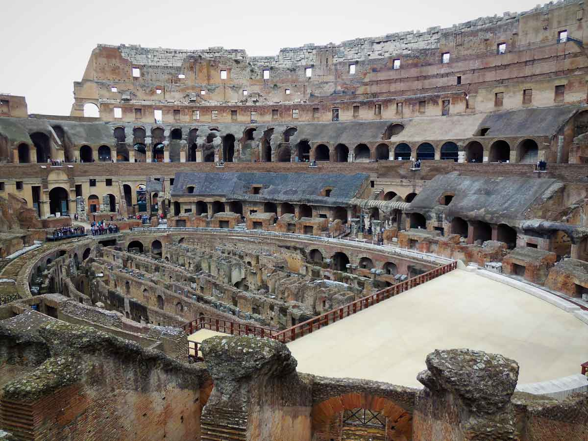 Colosseum Arena Floor Tour With Gladiator S Entrance Dark Rome