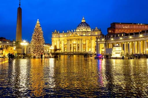 St. Peters Square with Christmas Tree