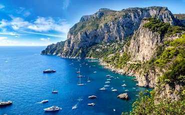 Incredible view of the Coast of Capri, Italy