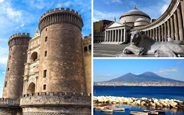 Naples highlights and beautiful view of the Mt. Vesuvius