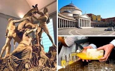 Piazza del Plebiscito, Archaeological Museum masterpiece and Limoncello tasting in Naples
