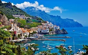 Traditional Amalfi houses by the coast
