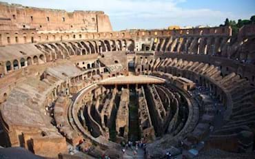 View of the interior of the Colosseum Arena in Rome