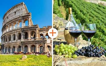 Colosseum arena and wine tasting in the Countryside of Rome Tour