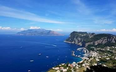 Beautiful Coast of Capri, one of the most beautiful Italian islands