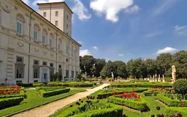 Borghese Gallery Gardens in Villa Borghese, Rome