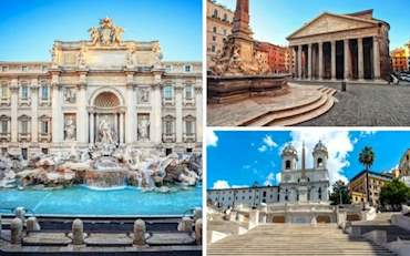 Best free attractions in Rome: Fontana de Trevi, Spanish Steps and The Pantheon
