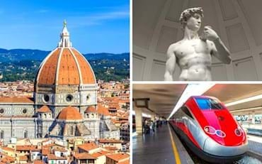 Famous Florence Cathedral Duomo and Michelangelo's David