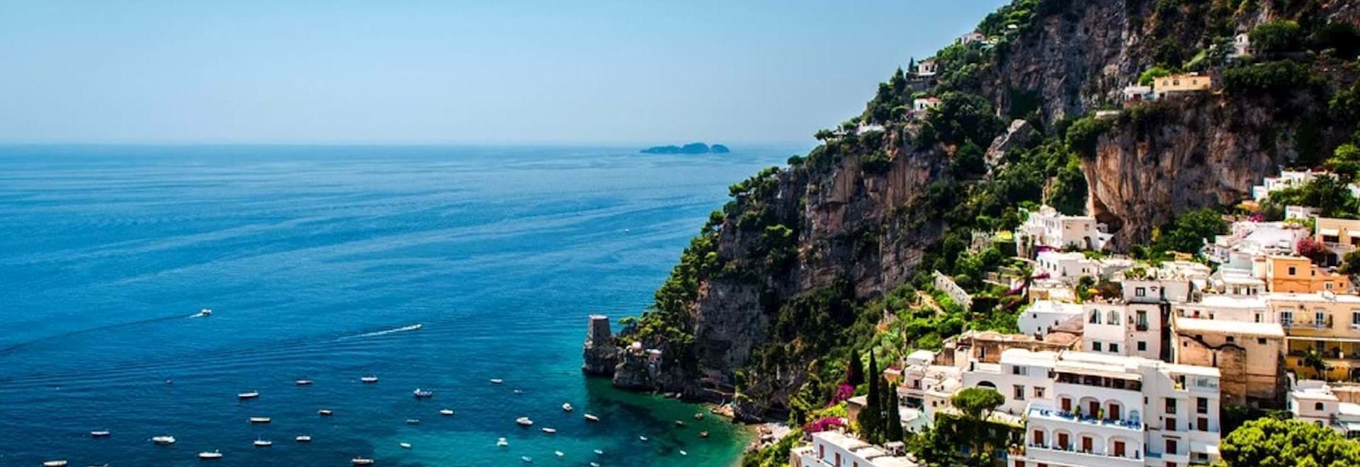 Amalfi Coast in the South of Italy