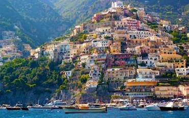 Beautiful Amalfi Coast houses in the South of Italy