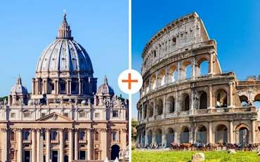 St. Peter's Basilica and Colosseum, Main attractions of Rome