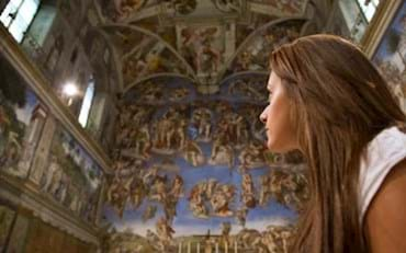 Sistine Chapel frescoes painted by Michelangelo in the Vatican