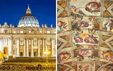 Iconic St. Peter's Basilica and Sistine Chapel in the Vatican City