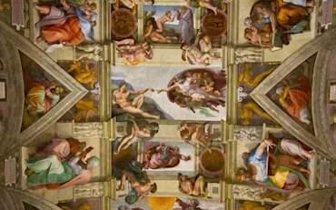 Famous Michelangelo's fresco in the Sistine Chapel