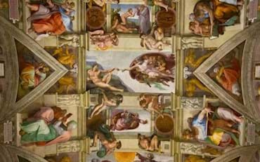 Famous Michelangelo's fresco in the Sistine Chapel