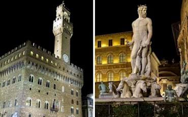 Florence highlights at night