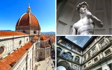 Florence Cathedral, Michelangelo's David and Uffizi Gallery