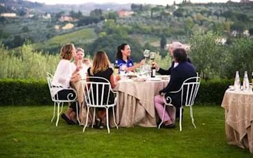 Villa dinner in the countryside of Florence
