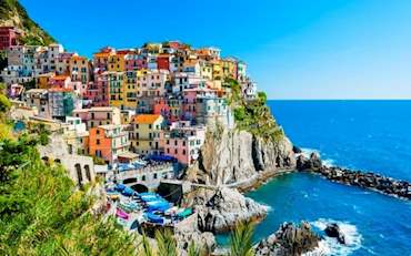 Town of Manarola one of the five Cinque Terre Towns