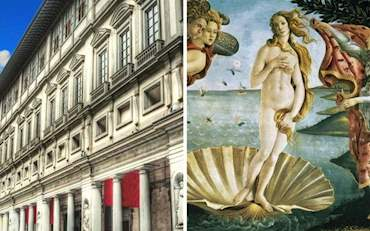 Uffizi Gallery building in Florence