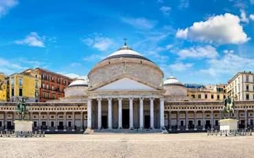 Famous Piazza del Plebiscito in Naples