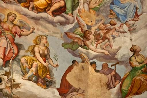 Florence Cathedral ceiling frescos details