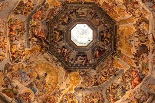 Florence Duomo Cathedral ceiling frescos by Vasari