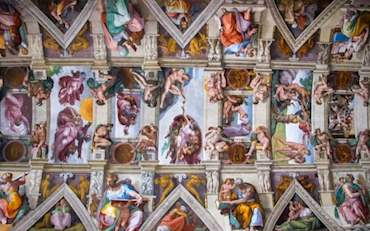 Incredible Sistine Chapel's ceiling in the Vatican