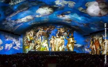 Last Judgment show at the Auditorium della Conciliazione in Rome