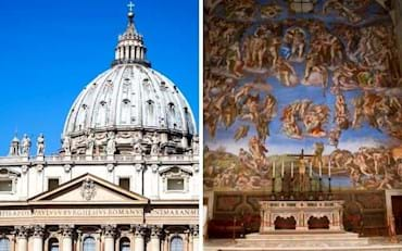 St. Peter cathedral and the Sistine Chapel Altar