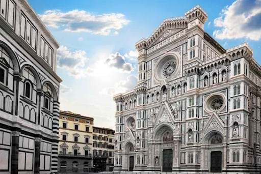 View of the Cathedral Santa Maria del Fiore in Florence