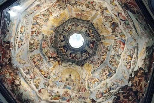 View of the inside of the Cupola of the Duomo In Florence