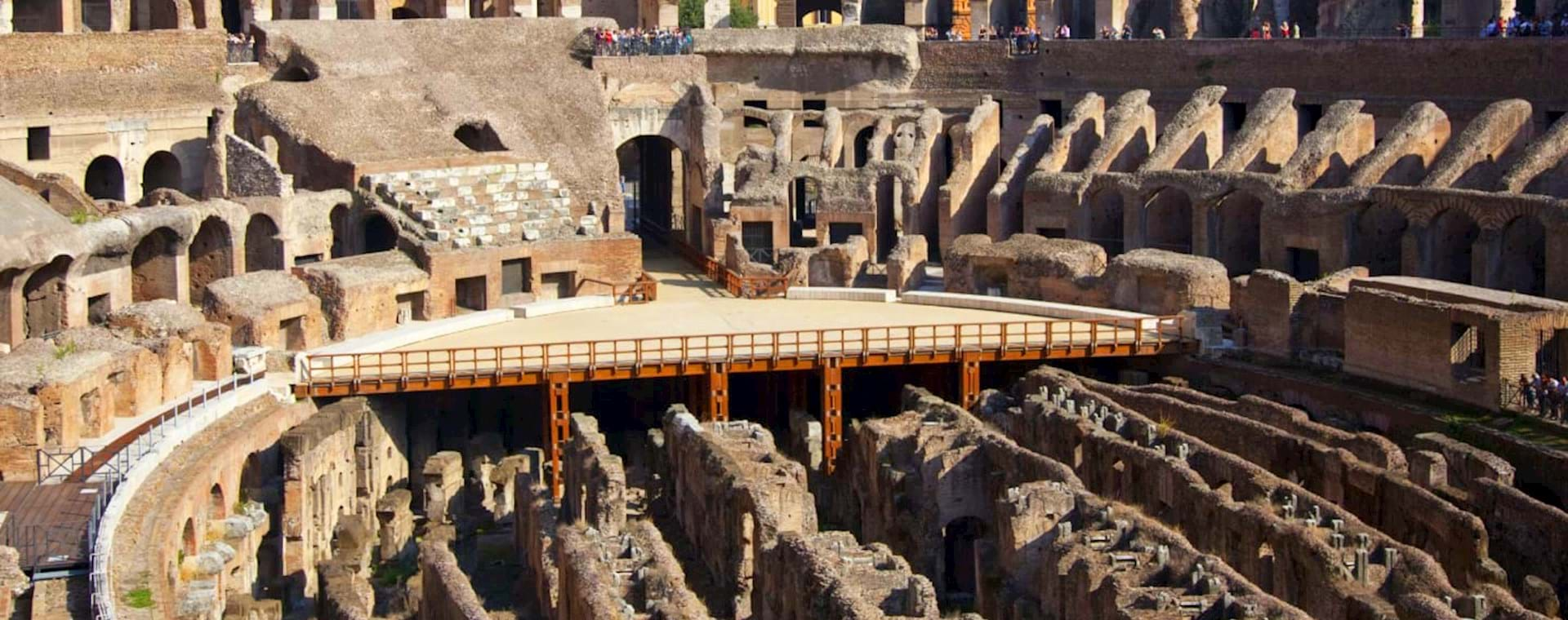 Colosseum Underground Tour with Arena Floor, 2nd Tier & Roman Forum