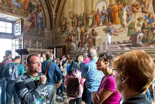City Wonders Guide sharing information about the Raphael Rooms with the tourists