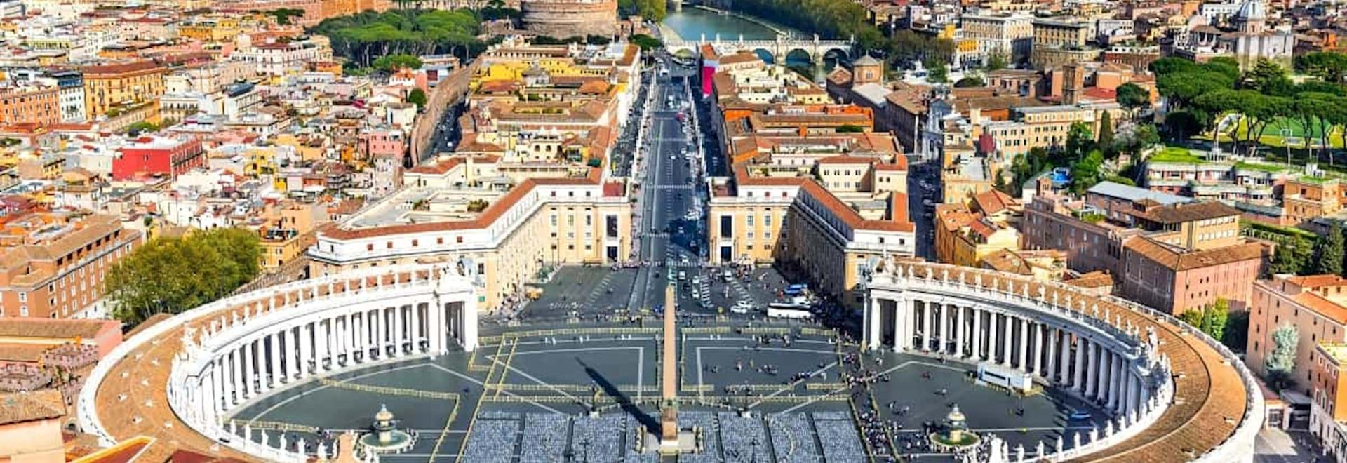 View of St. Peter's Square seen from the St. Peter's Basilica Dome