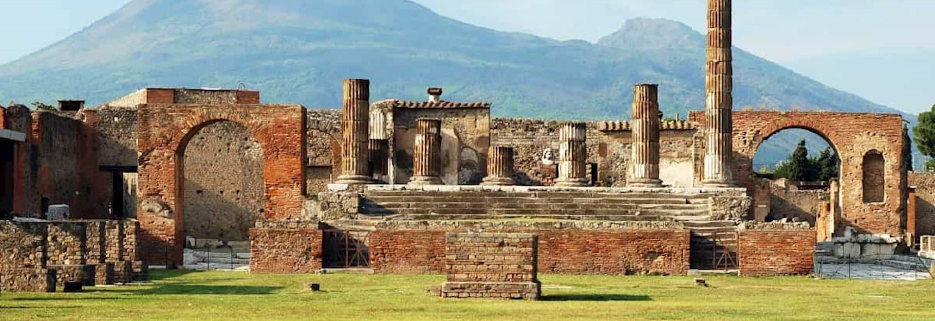 View of the Vesuvius from Pompeii