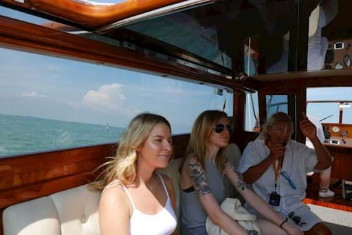 water taxi ride to Murano & Burano